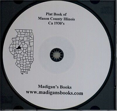 Mason County Illinois Havana IL Plat book genealogy land owners