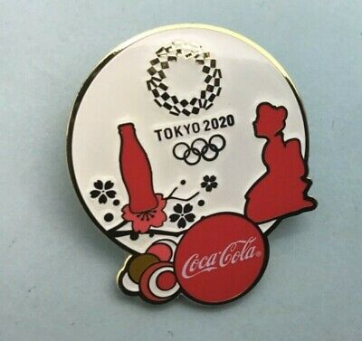 TOKYO 2020  JAPAN OLYMPIC GAMES  PIN  sponsor coca cola map flowers