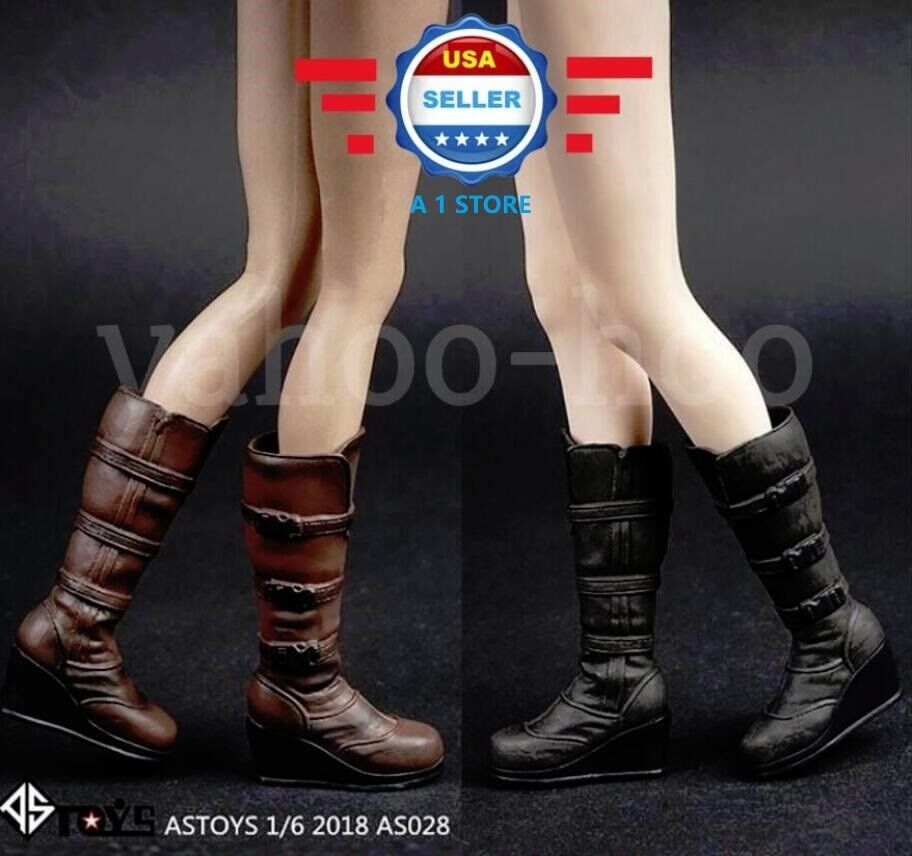 """1//6 Scale Combat Boots PEG BASED For 12/"""" Phicen Hot Toys Female Figure Body"""