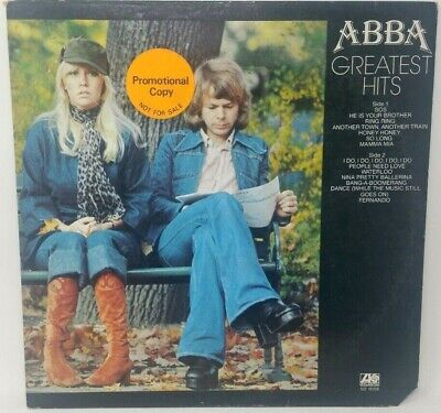 Abba Greatest Hits LP Atlantic SD 18189 Promotional Copy Jacket VG Record Ex.