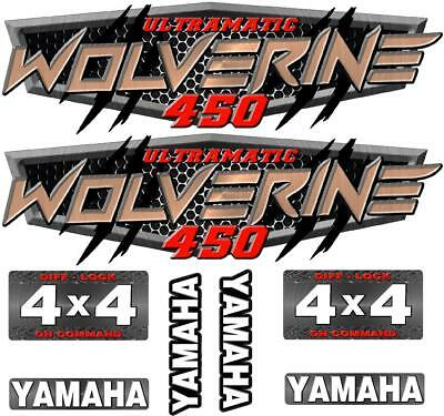 Yamaha Wolverine 350 400 450 4x4 Decal graphic sticker OEM kit plastic set