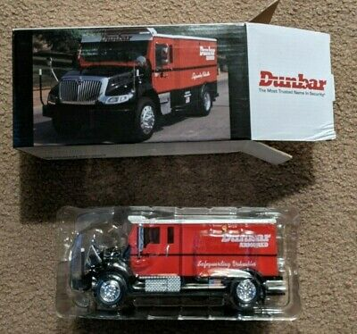 Red Dunbar Armored Coin Bank Truck Model 1:24 Scale RARE Collectible New in Box
