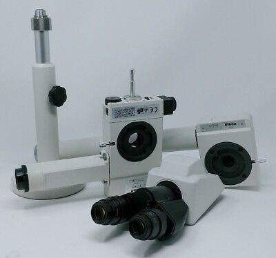 Nikon Microscope Dual Head Bridge Teaching Kit With Pointer Binocular Head