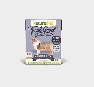 NATUREDIET SENIOR Lite Dog Food x 36 Complete Dog Food For Older Dogs FEEL GOOD!
