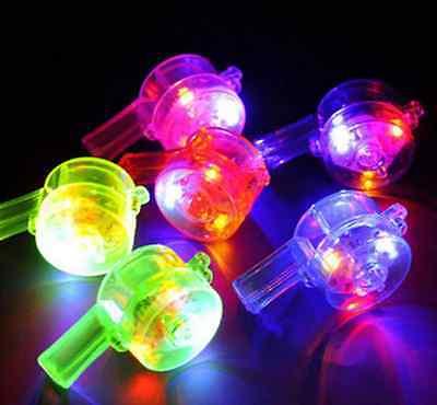 20 pcs Light up whistle Flashing Blinking necklace lanyard  rave goody bag  ()