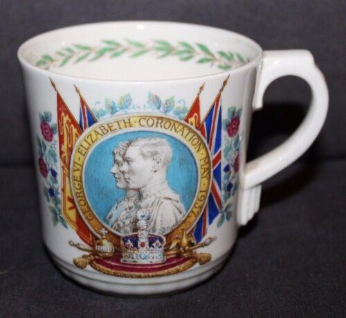 Vtg 1937 ROYAL DOULTON Coronation Mug GEORGE VI & ELIZABETH