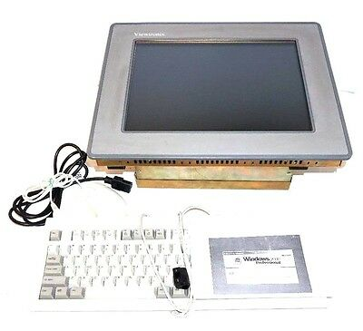 Used Viewtronix 15 Industrial Computer With Keyboard Mouse Windows 2000 Pro