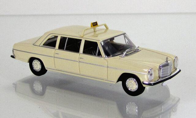 """Brekina 13404 Mercedes Benz 220 D lang """" Taxi """" (hellelfenbein) von Starmada"""