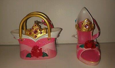 Disney Aurora Sleeping Beauty Shoe Purse  Ornaments Set Of 2