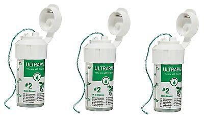 3x Ultrapak Dental Retraction Knitted Cord 244 Cm 99in Bottle Size 2 Ultradent