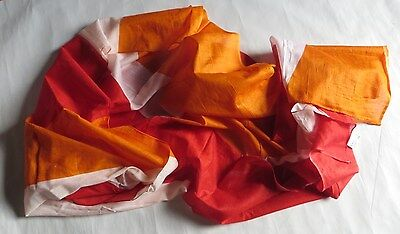 """Très grand foulard en coton jaune, orange et blanc – """"Episode pour Atmosphère"""" -"""
