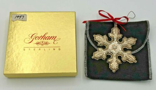 Gorham Sterling Silver 1997 Annual Snowflake Ornament, with box