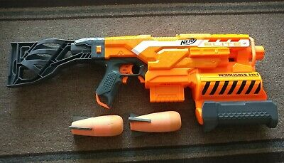 Nerf N-Strike Elite 2-in-1 Demolisher Blaster w 2 rockets and clip. *TESTED*