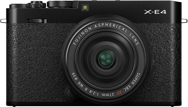 Fujifilm X-E4 Digital Camera with XF 27mm WR Lens - Black