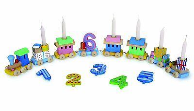 Goki GK 106 Geburtstagszug Lok mit Anhänger von 1 bis 6 Jahren bunt NEU & OVP