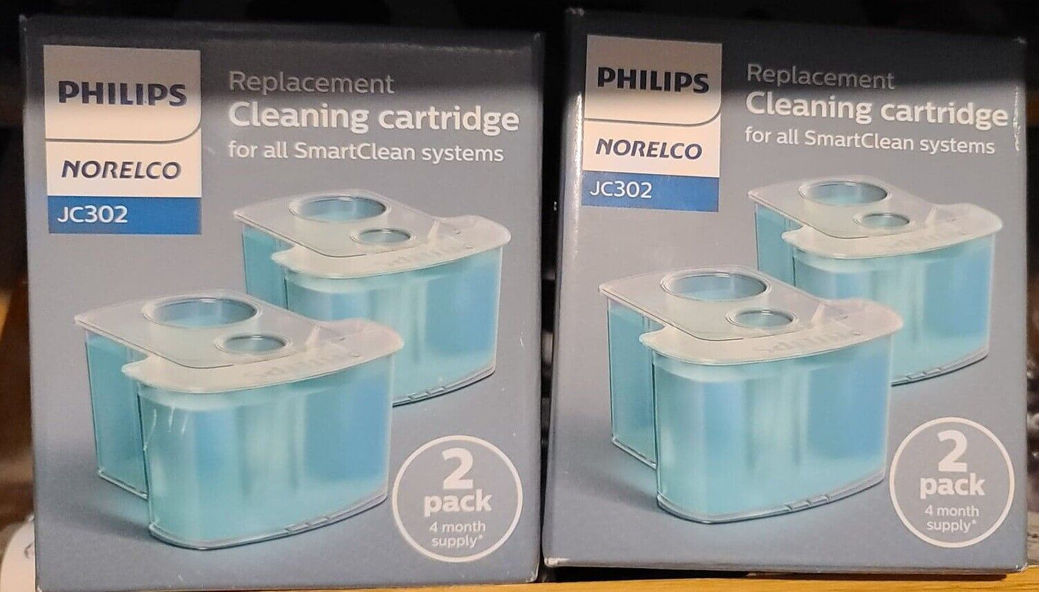 Philips Norelco Smartclean Replacement Cleaning Cartridge JC302 2 Count  - $14.99