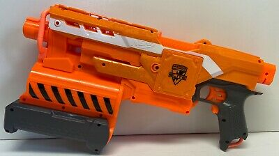 Nerf Elite Demolisher 2 in 1 Blaster Missle Dart Gun Blaster Only. Works Great