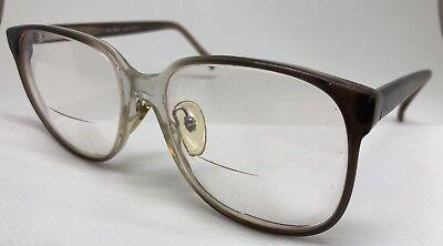 Vintage Marchon Rx Eyeglasses Mark Smoke Grey 58/18/145 Full Rim Plastic Men's