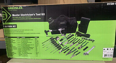 Greenlee 0159-11 28 Piece Master Electricians Tool Kit New In Box