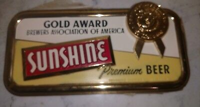 Vintage Sunshine Premium Beer Advertising Sign  Reading Pa    New Old Stock