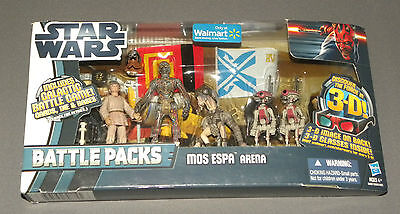 Mos Espa Arena Star Wars Battle Packs Figure Set W Sebulba, Pit Droid X 2, C-3po