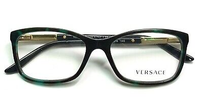 Versace MOD3186 5076 Eyeglasses Glasses Green Black Havana 54-16-140 Please Read