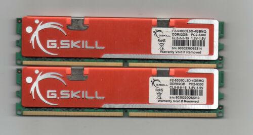 4GB (2X 2GB) G. Skill  DDR2 667 PC2-5300 Desktop Computer Memory PC Ram