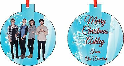 NEW Personalized One Direction Ornament ( Add Any Message You Want)