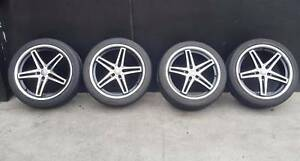 SECONDHAND 19 INCH WHEELS + TYRES TO SUIT AUDI A6, VW PASSAT, Doncaster East Manningham Area Preview