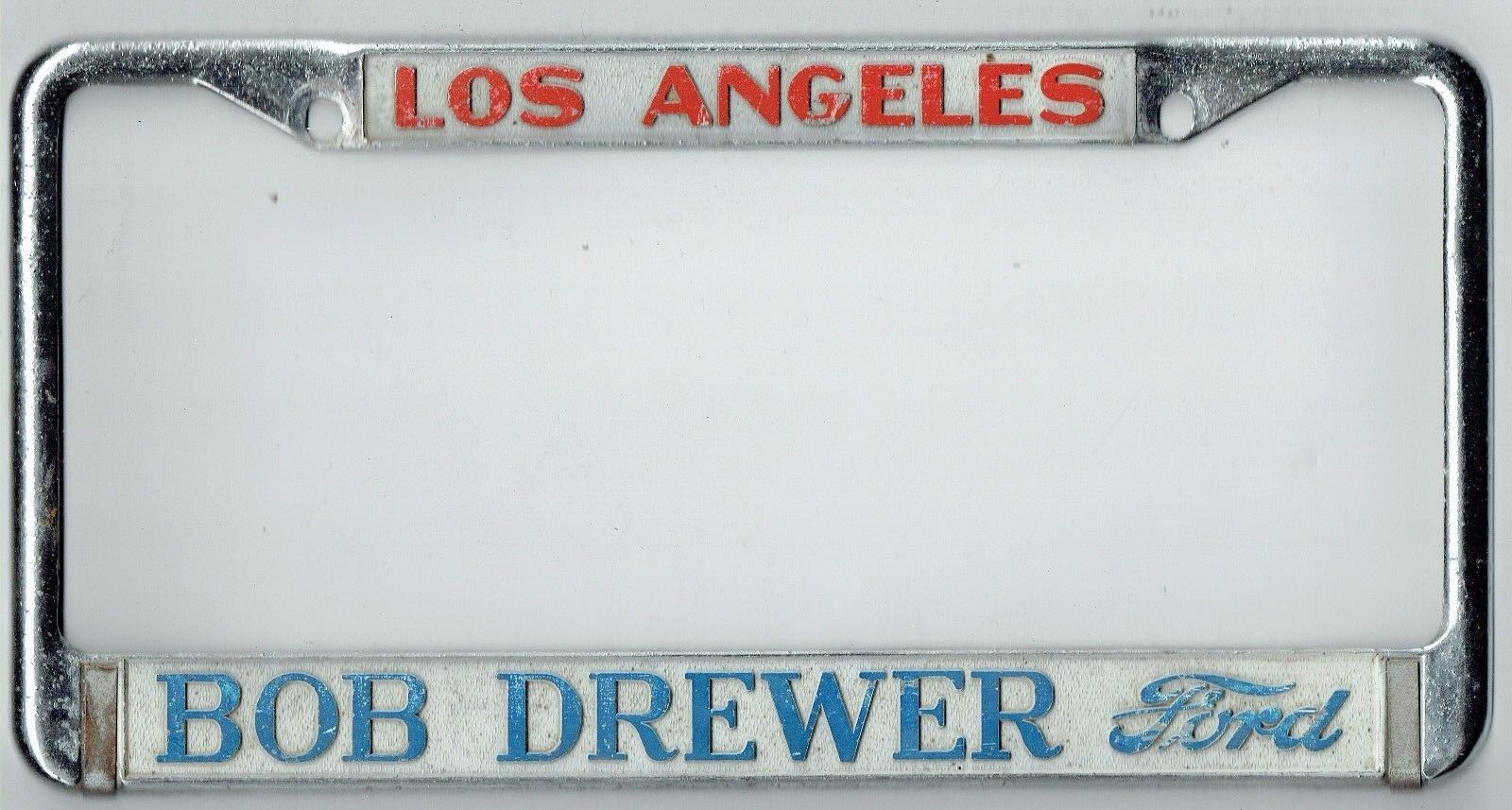 RARE Los Angeles California Bob Drewer Ford Vintage Dealer License ...