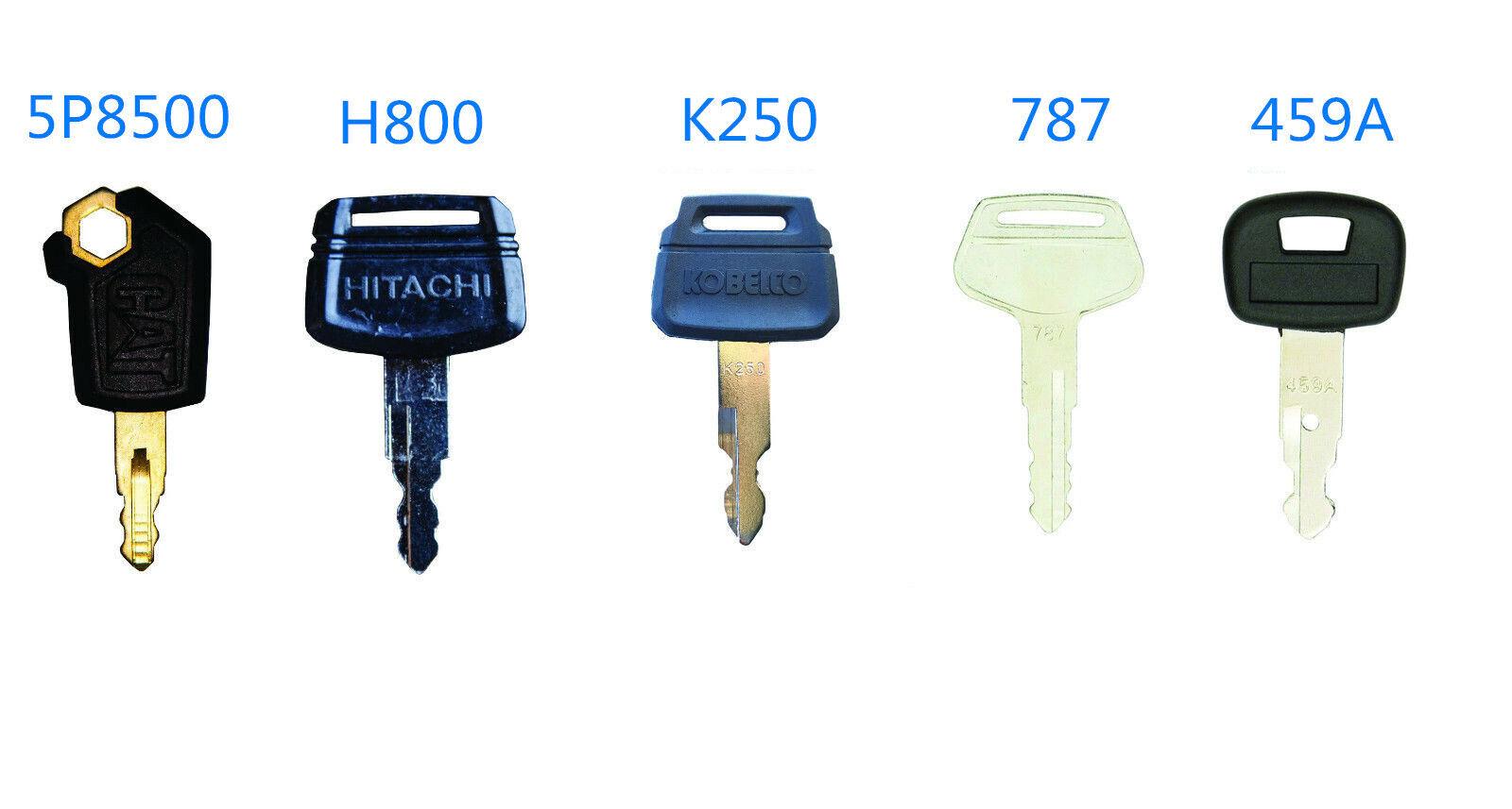 5Excavator Key For Caterpillar Hitachi H800 Kobelco K250 Komatsu 787 Kubota 459A