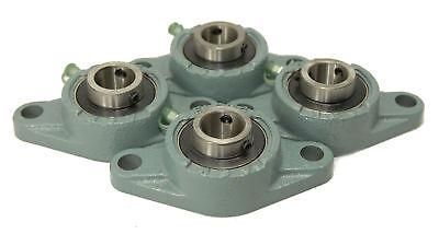 4 Stück UCFL205 2-loch Flanschlager UCFL 205 25 mm Welle Gehäuselager oval