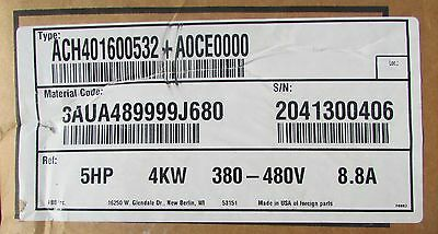 Abb Drive And Disconnect 5 Hp 480v 8.8 Amp Ach401600532 A0le0000