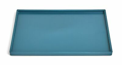 Tru Red Slim Stackable Plastic Tray Teal Tr55268
