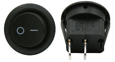 2 Pack 6a 250v 10a 125v Spst Onoff 2 Position Mini Round Rocker Switch 12v