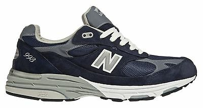 New Balance Mens Classic 993 Running Shoes Blue with White