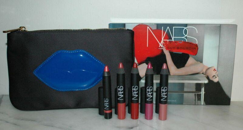 NARS Guy Bourdin Promiscuous Ltd Ed Holiday Velvet Matte & Gloss Lip Pencil Set
