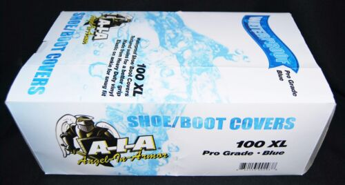 100  WATERPROOF PREMIUM SHOE COVERS / BOOT COVERS  SIZE 2XL  DISPOSABLE PLUMBERS