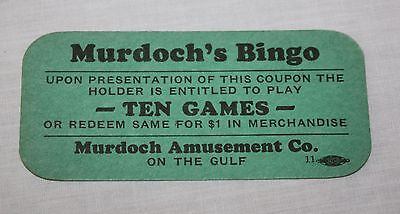 Murdoch's Bingo Coupon Galveston Texas Illegal Casino Gambling
