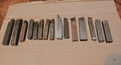 Lathe Metal Cutters Older 34 Square Lot Of 14 Good Solid Lot See Pics Desc