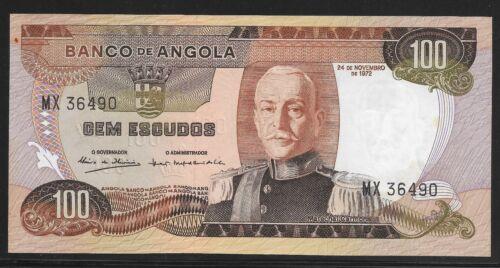 Angola 1972 100 Escudos Banco de Angola  CU Pk-101