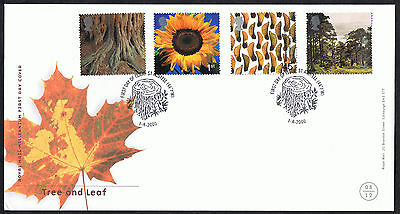 Tree and Leaf 2000 First Day Cover - SG2156 to SG2159 St Austell Cancel