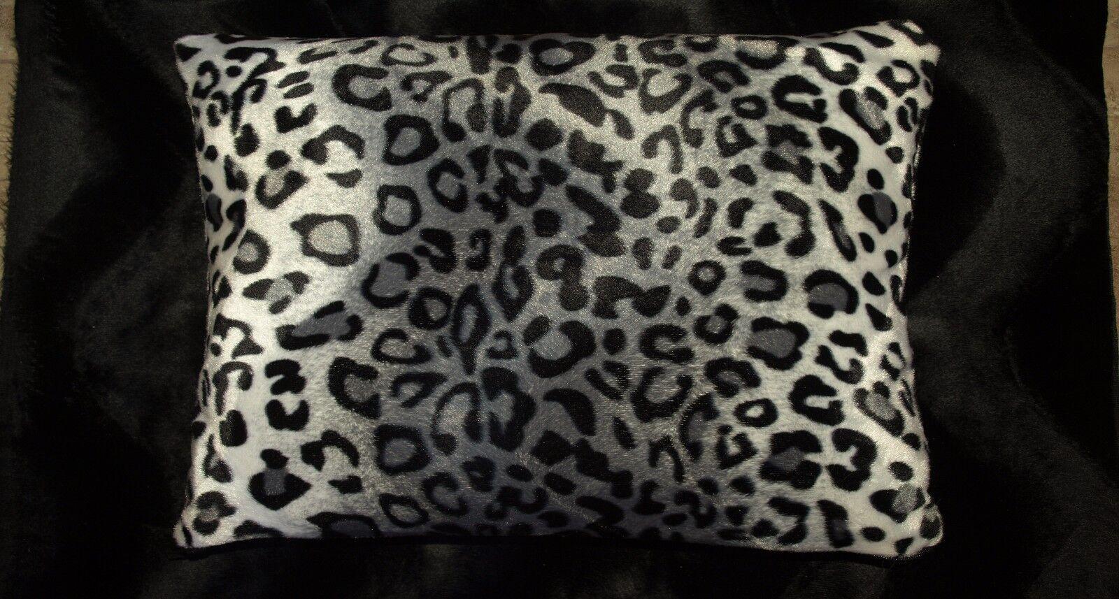 Snow Leopard Pillow Shams Standard Queen King Faux Fur Pillo