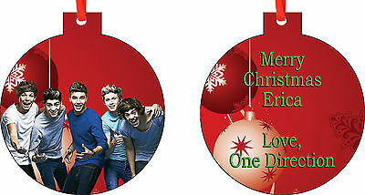 Personalized One Direction Ornament ( Add Any Message You Want)