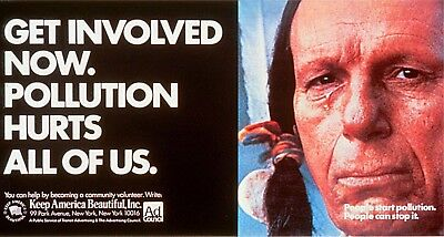 1970s Keep America Beautiful Crying Indian Pollution poster replica magnet new