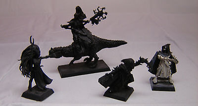 Warhammer Dark Elf   Sorceress on Cold one + Assassin finecast + metal one lot