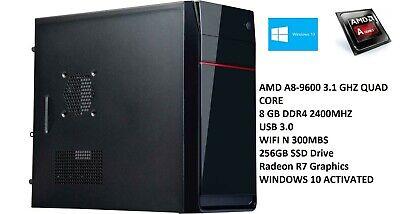AMD 10-Core Gaming Computer Desktop PC Tower SSD HDMI 8GB R7 Graphic CUSTOM