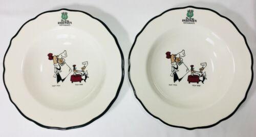 Vintage Andersen Restaurants Pea Soup Bowls Syracuse China USA - Set of 2