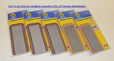 EZE-LAP Diamantschärfer  - 5 Platten - meist verkauft in den USA