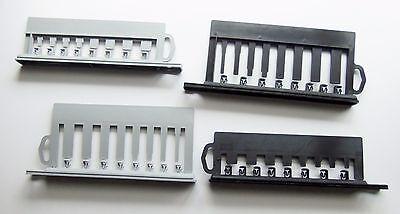 "Lot of 4 Gray and Black Plastic panels  3/8""Sq drive sockets Tool"